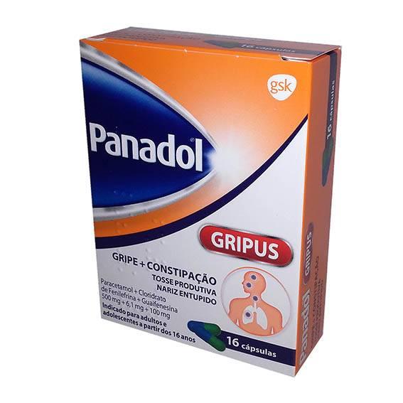 Panadol Gripus, 500/6,1/100 mg x 16 cáps