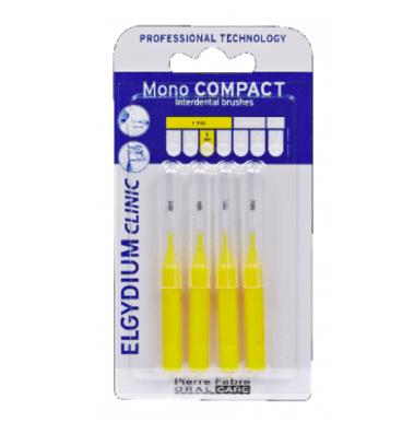 Escovilhão Elgydium Clinic Mono Compact Amarelo x4