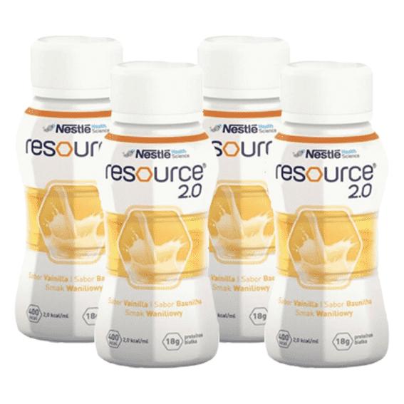 Nestlé Resource Energy Solução Oral Baunilha 4x200ml