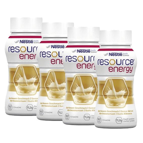 Nestlé Resource Energy Solução Oral Alperce 200ml x4