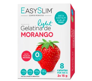 EasySlim Gelatina Light Morango 15g x2