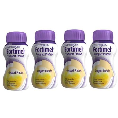 Fortimel Compact Protein Baunilha 125ml X4
