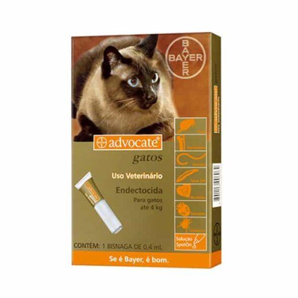 Advocate Gato Sol Uncao 0.4mlx3 Ate 4kg. 40/4 mg sol unção punctif VET