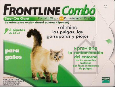 Frontline Combo Sol Top Gato 0.5 Ml X 3 sol unção punctif VET