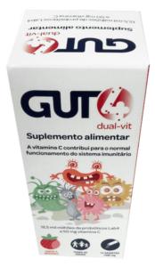 Gut4 Dual-Vit Saquetas Pó Morango x14