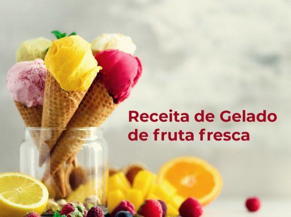 Receita de gelado de fruta fresca
