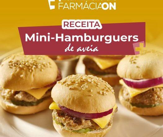 Receita de Mini-hamburguers de aveia
